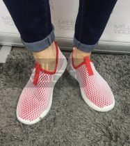 Hálós elasztikus cipő-piros