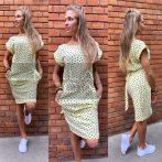 Jane szíves pamut ruha-sárga