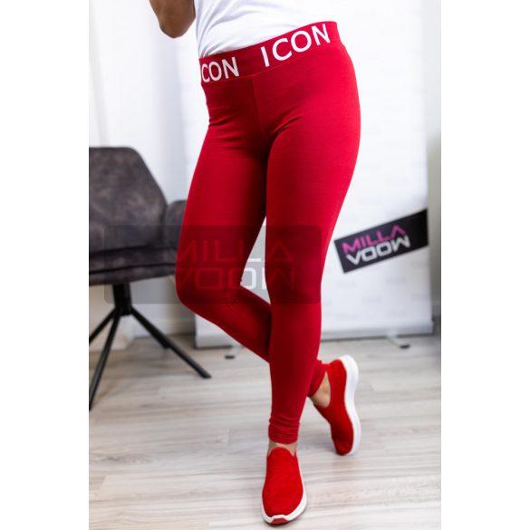 ICON vastag gumis pamut leggings-piros
