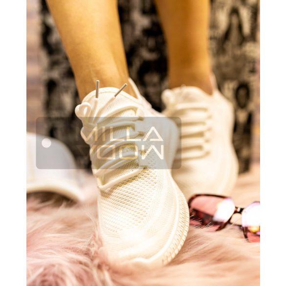Fire elasztikus sportcipő-fehér
