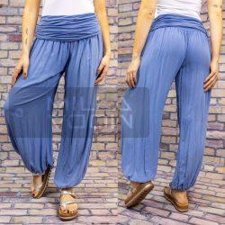 Ankara gumis derekú vékony viszkóz laza nadrág-kék