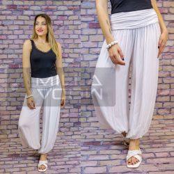 Ankara gumis derekú vékony viszkóz laza nadrág-fehér