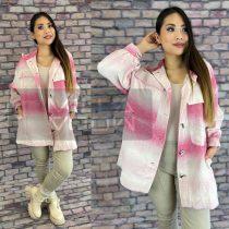 Timiami Worn pamut nagy zsebes gombos ing-rózsaszín
