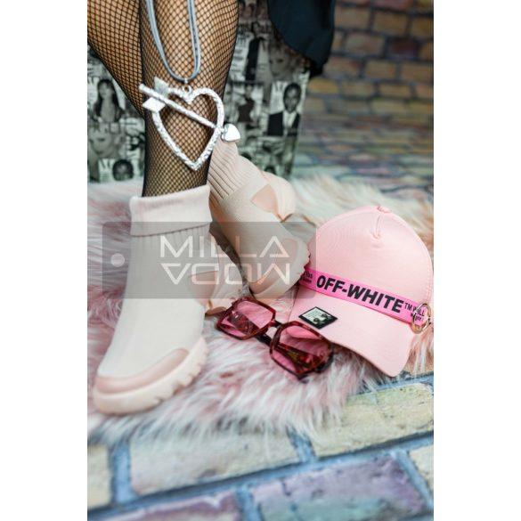 Csenge elasztikus zokni cipő-rózsaszín