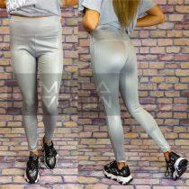 G&B magas derekú elasztikus fényes leggings-szürke