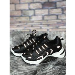 Reflective vastag talpú fényvisszaverős cipő-fekete