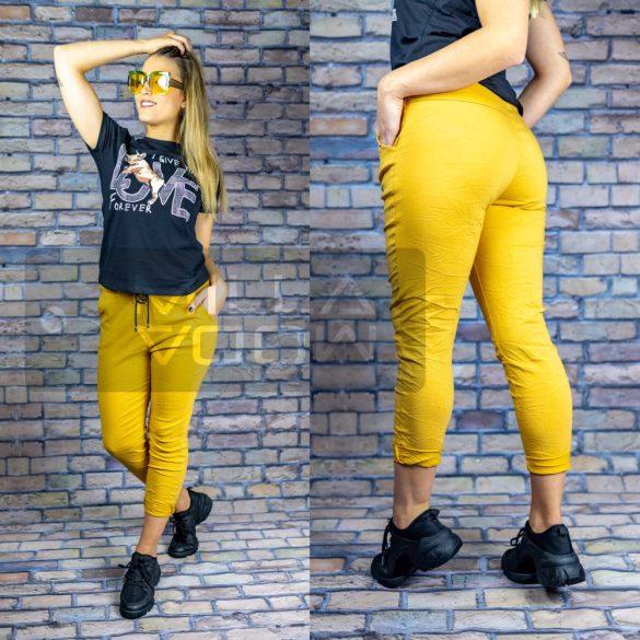 Detti zsebes vászon nadrág-sárga