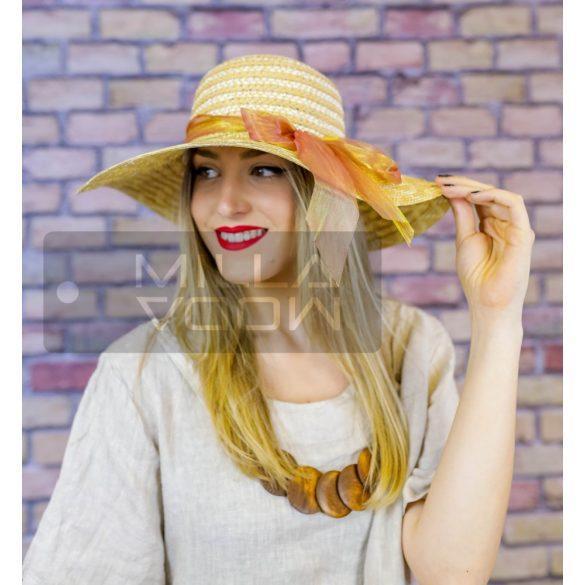 Napsugár nyári kalap szalaggal-bézs