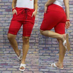 Detti elasztikus vászon térdnadrág-piros