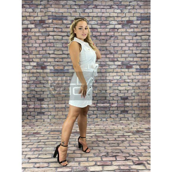 Tina gombos ingtunika-fehér