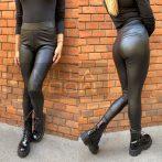 Madonna bélelt bőrhatású leggings-fekete