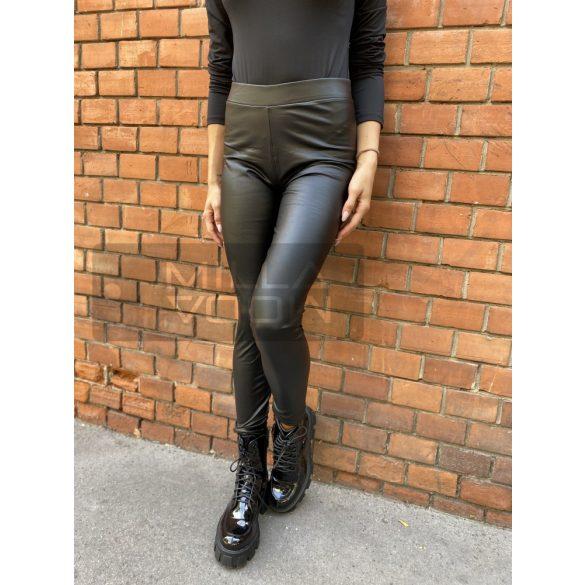 Madonna bélelt bőrhatású leggings-fekete FF-99901n