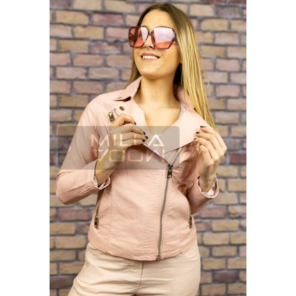 Dorothy karcsúsított textilbőr dzseki-púder