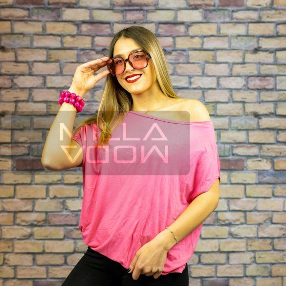 Warm Up alul gumis denevérujjú pamut felső-pink