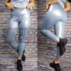 GNB magasderekú elasztikus leggings-ezüst 3073