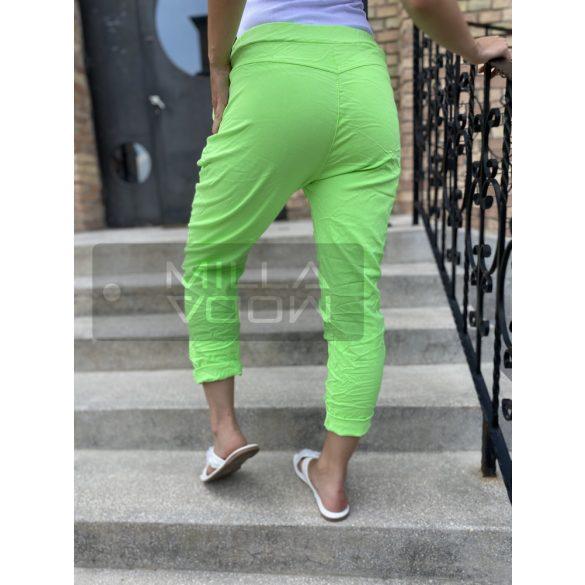 Neon Light gumis derekú elszatikus nadrág-neon zöld