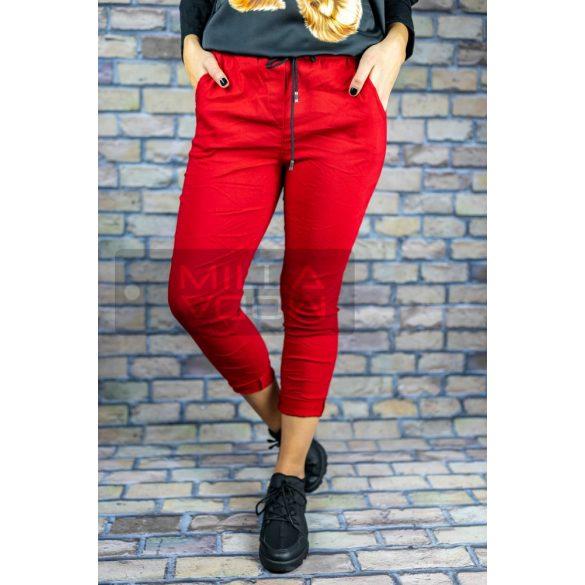 Detti zsebes vászon nadrág-piros