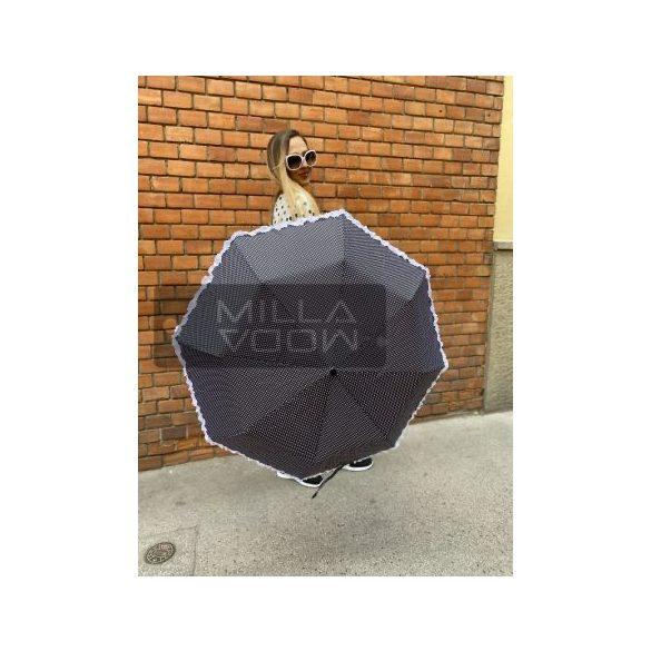 Romantic pöttyös autómata esernyő-sötétkék