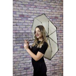 Romantic pöttyös autómata esernyő-drapp