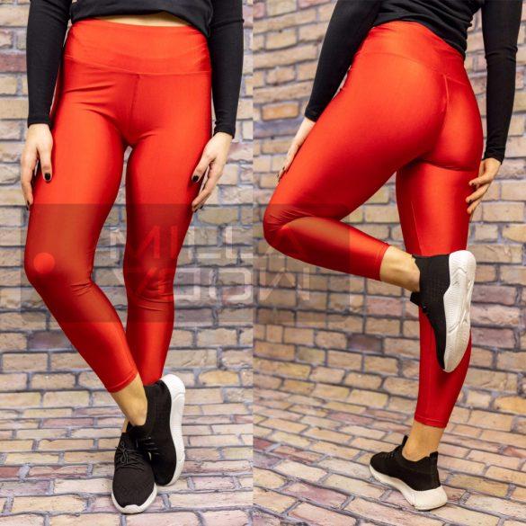 G&B extra elasztikus magas derekú leggings-piros