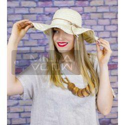 Janka nyári kalap masnival-bézs