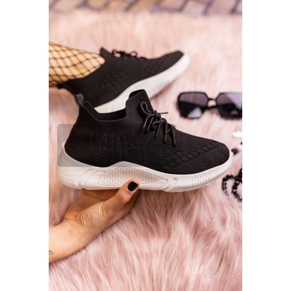 Speed vászon sportcipő-fekete