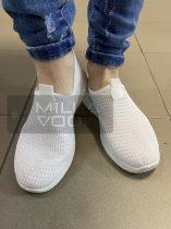 Kendra rövidszárú vászoncipő -fehér