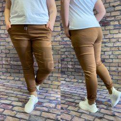 Detti zsebes vászon nadrág-barna