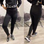 Amor Jeans gumis derekú elasztikus nadrág-fekete