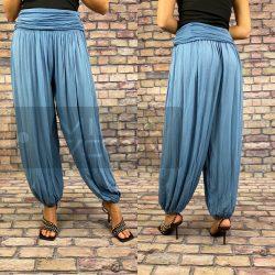 Ankara gumis derekú vékony viszkóz laza nadrág-világos kék
