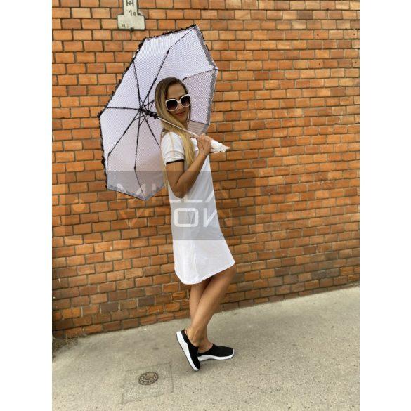 Romantic pöttyös autómata esernyő-fehér