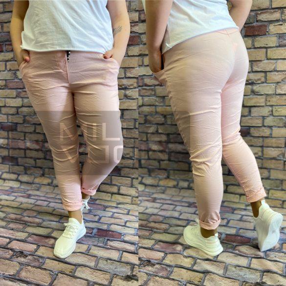 Detti zsebes vászon nadrág-púder