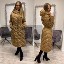 Lívi hosszú pufi kabát-barna