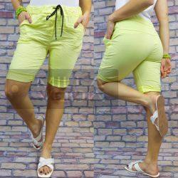 Detti elasztikus vászon térdnadrág-citromsárga