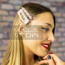 Diamond rózsaszín hajcsat szett