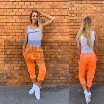 Harlem ülepes pamut nadrág-neon narancs