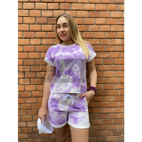 Zita batikolt sortos szett-lila