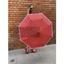 Romantic pöttyös autómata esernyő-piros