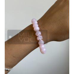 Diamond gumis műanyag kristály gyöngyös karkötő-rózsaszín