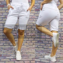 Detti elasztikus vászon térdnadrág-fehér
