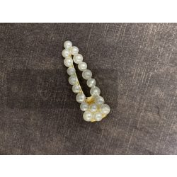 Pearl gyöngyös hajcsat-fehér/arany