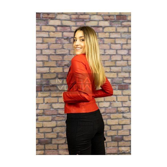 Dorothy karcsúsított textilbőr dzseki-piros