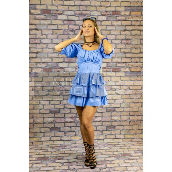 Alice gumis hátú masnis puffos ujjú ruha-világos kék