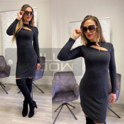 Dalina pamut ruha -szürkésfekete