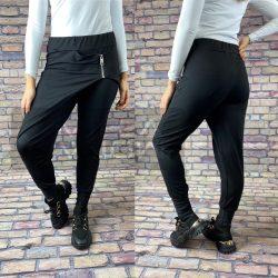 Desire átlapolt pamut nadrág-fekete