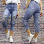 Water Jeans szaggatott bő farmer-világos kék