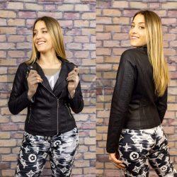 Dorothy karcsúsított textilbőr dzseki-fekete