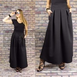 Gerda gumis derekú zsebes szoknya-fekete