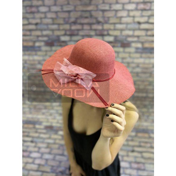 Johanna nyári kalap virággal-piros