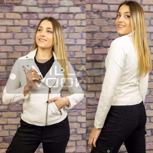 Dorothy karcsúsított textilbőr dzseki-fehér